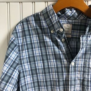 Gap Lived In Plaid Button Down Shirt